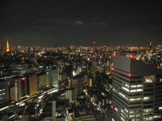 Cerulean Tower Tokyu Hotel : panorama notturno dalla camera