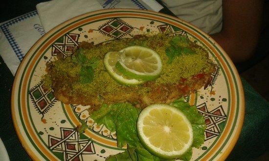 Agriturismo Calamosche: Spada in crosta di pistacchio