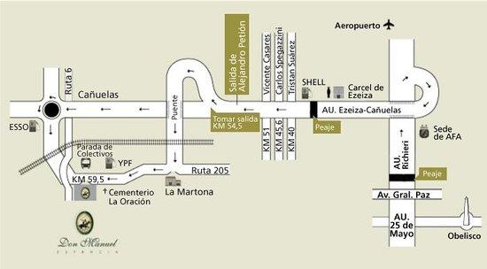 Estancia don Manuel : Mapa