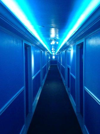 Penguin Hotel: Cool hallway lighting
