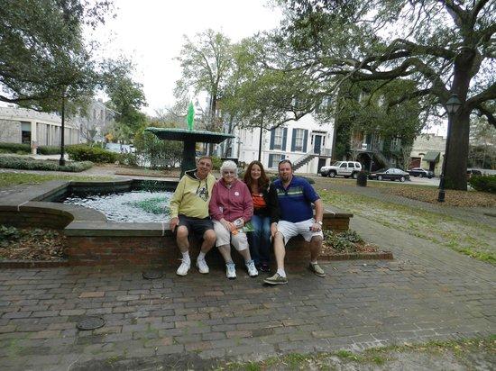 Old Town Trolley Tours of Savannah : Duane, Pat, Jennifer, and Chris