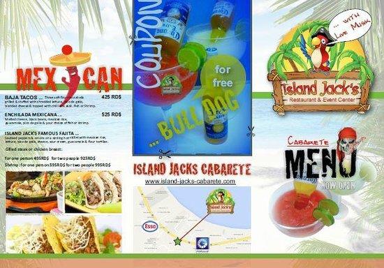Island Jacks Bar and Grill: 350 Pesos for free