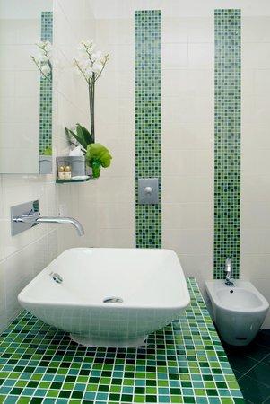 Hotel'a Sciulia : bagno verde
