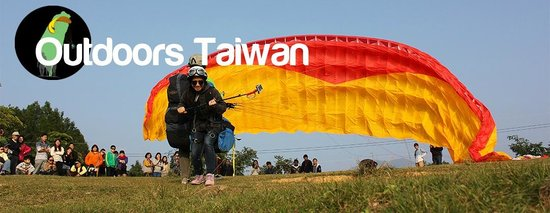 ‪Outdoors Taiwan Tandem Paragliding - South of Taiwan‬