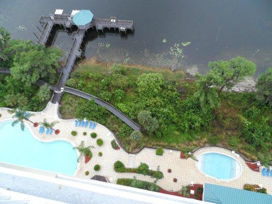 Blue Heron Beach Resort : view down!!