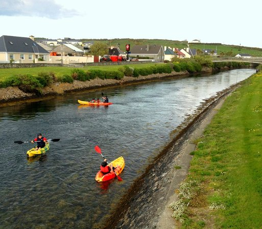 Kayaking the Canal Belmullet on the wild atlantic way