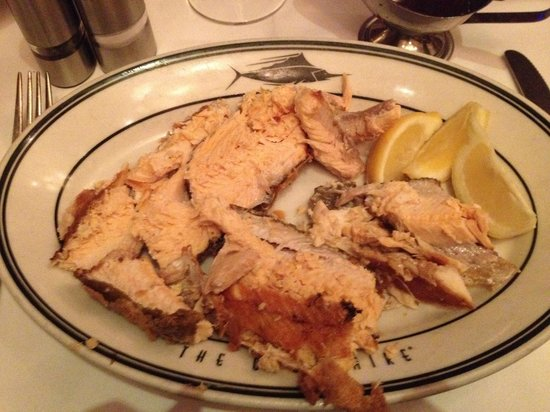 The Oceanaire Seafood Room: Once the waiter had dismembered it