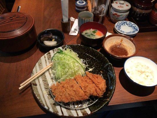 Katsukura Shinjuku Takashimaya: Set lunch of total awesome