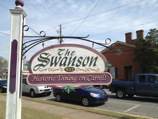 The Swanson Restaurant: Restaurant Sign on Corner