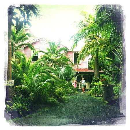 The Pink Plantation House: gardens and house