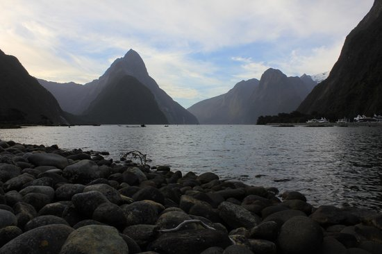 Mitre Peak and Milford Sound in the evening.