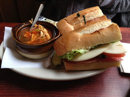 Iron Gate Cafe: Italian Sandwich with a side of soup