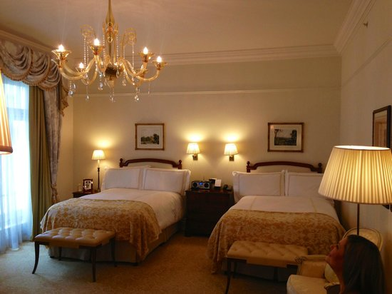 The Savoy : Deluxe room with two double beds