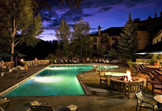 The Charter at Beaver Creek Outdoor Pool & Fireplace