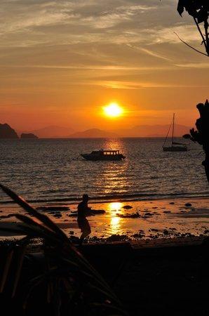 Sunset beach views from Yao Yai Resort