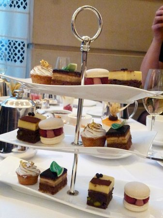 COMO The Halkin: Three tier cake stand loaded with cakes!