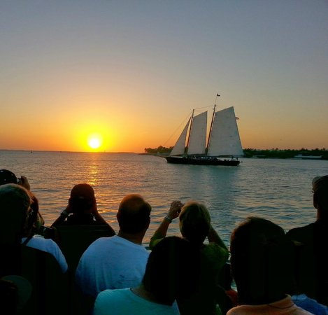 Hyatt Windward Pointe: the schooner at sunset