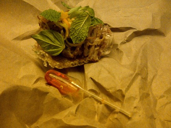 minibar, Washington, D.C.: Vietnamese pig's ear and chili oil