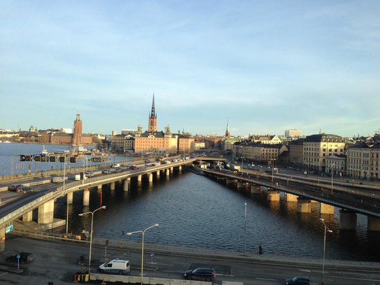 Hilton Stockholm Slussen: Morning view from room