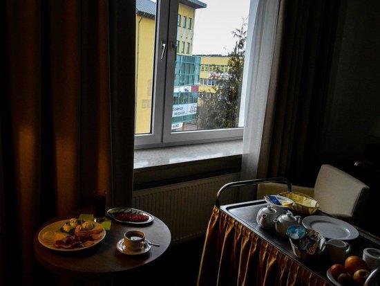 Gromada Hotel: Breakfast.