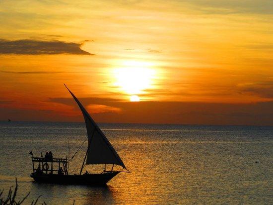 Sunset Beach Resort Zanzibar: Tramonto dal Sunset