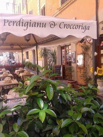 Hostaria Perdingianu e Croccoriga: terrazza del ristorante