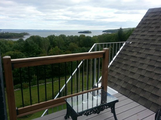 Norumbega Inn: View from our balcony