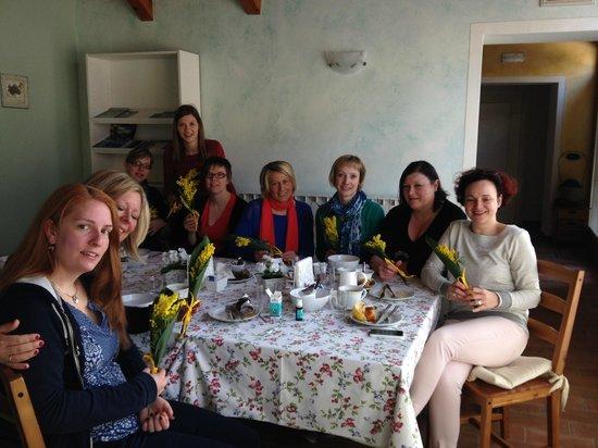 Bed & Breakfast Carpe Diem : Ontbijt met mimosa