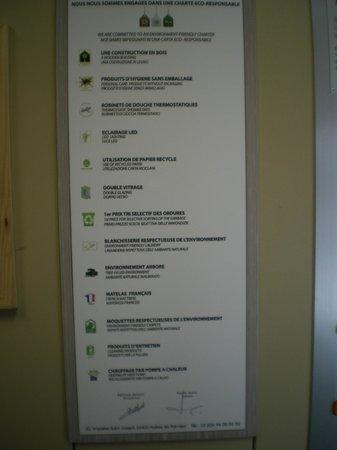 Best Western Plus Hyeres Cote D'Azur: charte eco responsable
