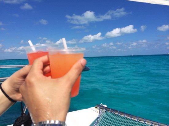 Playa Norte: Beautiful water colors at isla mujeres