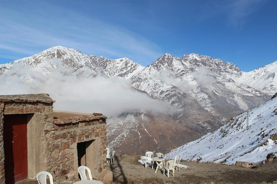 Toubkal Guide Day Tours: top of second mountain - mint tea cafe