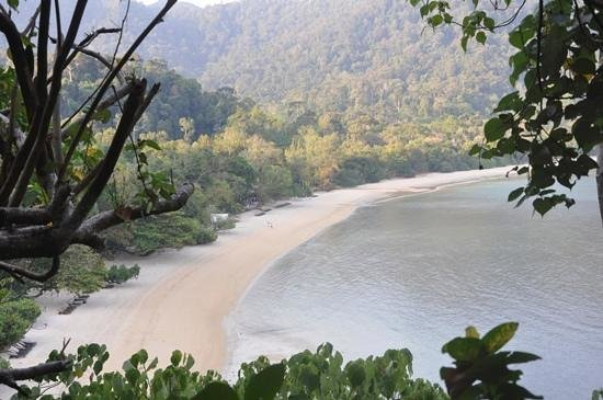 The Andaman, A Luxury Collection Resort: Datai Bay as viewed from the Spa (taken on nature walk)