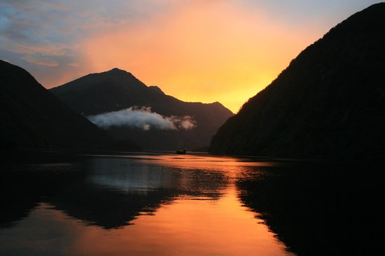 Sunset in Doubtful Sound