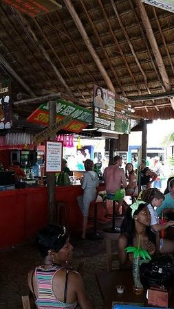 Senor Frogs Costa Maya: View toward the main bar