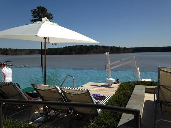 The Ritz-Carlton Reynolds, Lake Oconee: View from the infinity pool out onto Lake Oconee. Ahhhh.