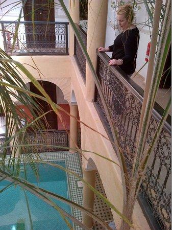Riad Itrane : the atrium / pool area