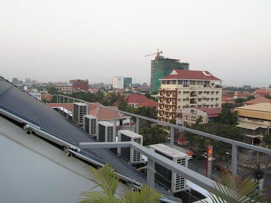 White Mansion : vue de la terrasse