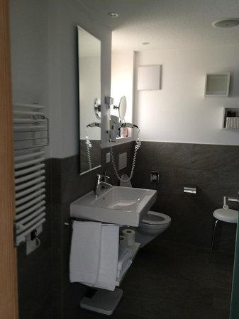 Hotel Aristella swissflair : View of the bathroom
