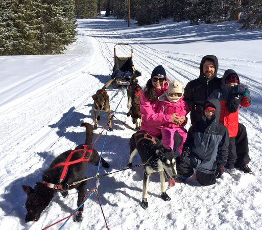 Monarch Dog Sled Rides: The family with the team.