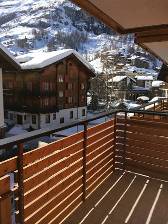 Hotel Aristella swissflair: View from the terrace of my room