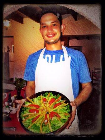 A delicious Salad at Rancho Naturalista