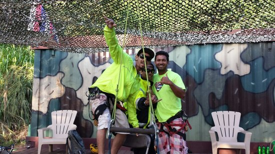 Flyin Hawaiian Zipline : Awesome tour guides!