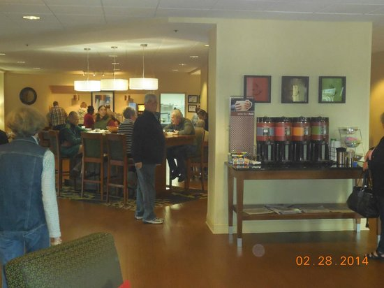 Hampton Inn - Rocky Mount: a lot of love and food in there