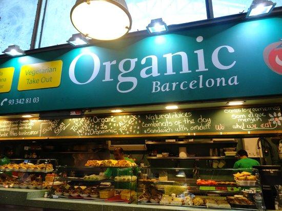 Mercat de Sant Josep de la Boqueria : banca de orgânicos