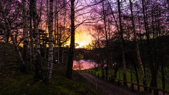 Loch Monzievaird Self Catering Lodges : Morning sunrise