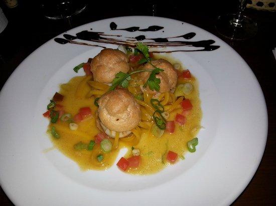 Pipiri Palace Restaurant: scallops profiteroles