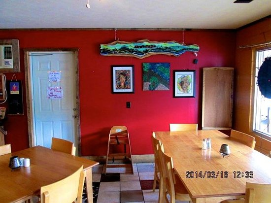 Bean Trees Cafe: Local works of art are featured in the coffee shop.