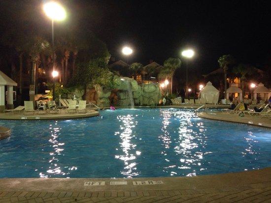 Sheraton Vistana Resort - Lake Buena Vista: Swimming at night!