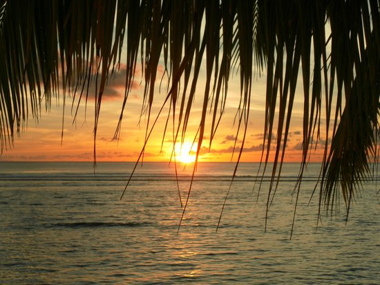 One of the many sunsets from Magic Reef Bungalows