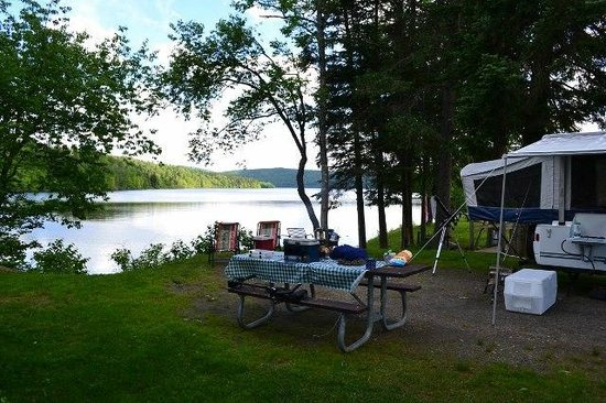 Lake Francis State Park: View from our campsite